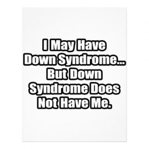 Down Syndrome Quote Full Color Flyer