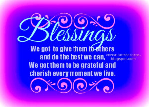 God gives us blessings. Free christian images for friends, blessings ...