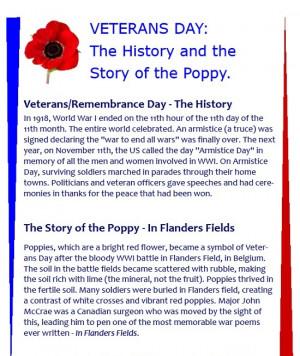 Veterans Day Poppy History