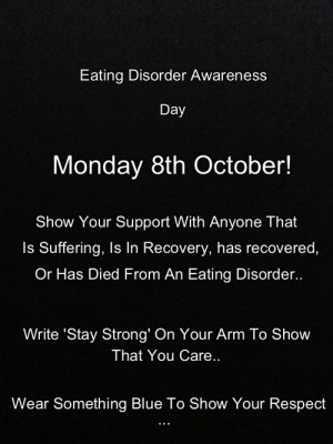 eating disorder Personal anorexia bulimia ednos awareness day