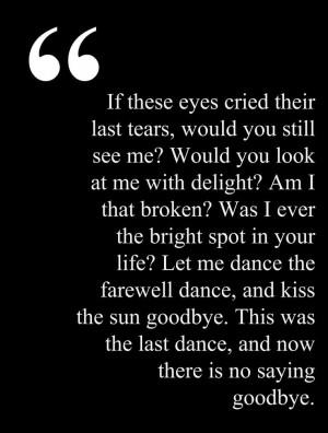 Sad Goodbye Love Poems