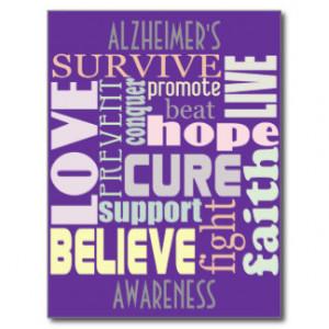 Alzheimer's Inspirational Words Postcard