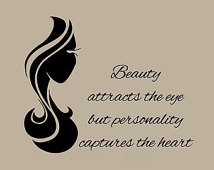 Hair Wall Decals Girl Hairdressing Salon Beauty Salon Wall Quotes ...