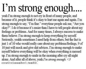 am strong enough
