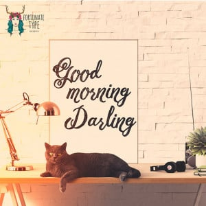 Good Morning Darling Print - Photo Print - Typography - Black and ...