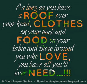 you who love you have all you ll ever need