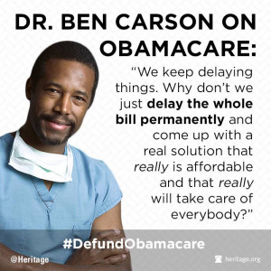 Dr. Benjamin Carson worked in health care long enough to know whether ...