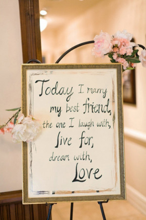 Wedding Quotes: Today I Marry My Best Friend