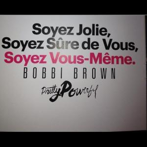 quote girl bobbi brown ️ jolie sure de vous vous meme beautiful ...