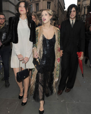 Peaches Geldof Cuddles With