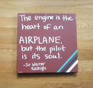 Flying Airplane Quote Painted on Canvas can by TwoCatsDecorations