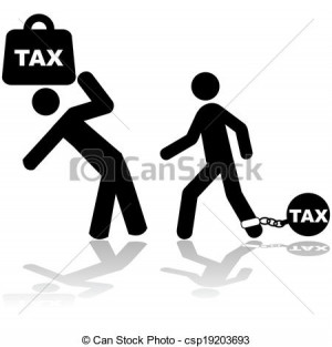 Tax burden - csp19203693