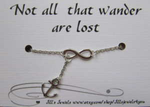Infinity and Anchor Charm Necklace and Quote Inspirational Card ...