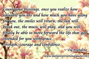 Inspirational Quotes About God Blessings