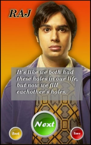 Rajesh Koothrappali Quotes Screenshot 6