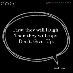 Quote of the day: laugh & copy