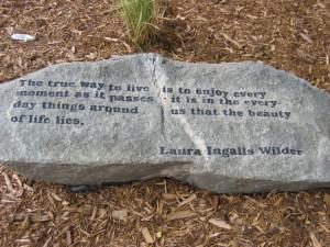 Laura Ingalls Wilder quote.