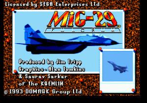 Mig-29 Fighter Pilot (USA) Title Screen