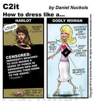 "... and compares the ""Harlot"" to the ""Godly Woman."" Have a look"