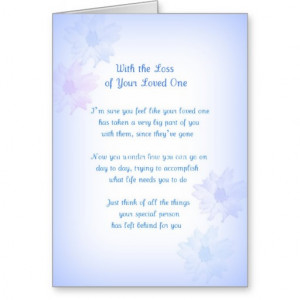 poems about loss of loved one