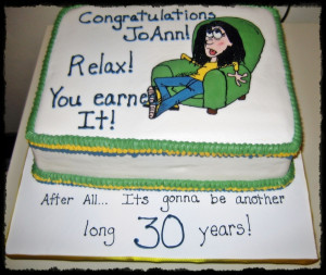 My former employer asked me to do a cake for another employee's 30th ...