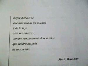 ... Quotes, Loneliness, Mario Benedetti, Simplemente Benedetti, Phrases