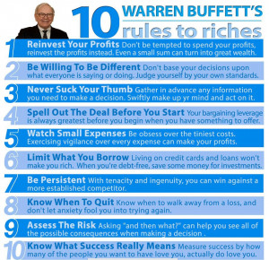 10 Warren Buffett's rules to riches & Excellent Tips by Warren Buffet
