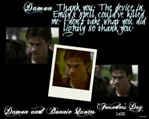 ... Bonnie Damon and Bonnie Quotes: Season One 1x22 Founder's Day ~ Damon