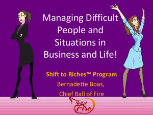 Dealing with Difficult People and Situations in the Workplace