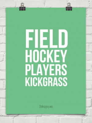 Field hockey players kickgrass #186473