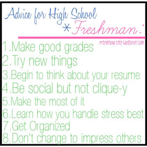 quotes about freshman year of high school