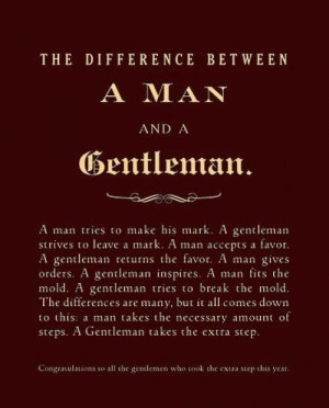want the gentleman not the man