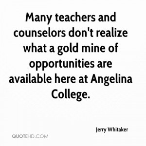 Many teachers and counselors don't realize what a gold mine of ...
