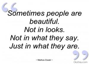 sometimes people are beautiful markus zusak