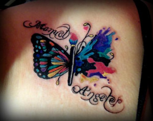 Butterfly flying away tattoos - photo#17