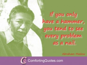 Abraham Maslow Quotes on Hammer and Nail