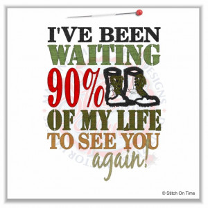 5093 Sayings : I've Been Waiting 90% Of My Life Applique 5x7