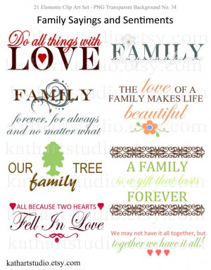 family sayings scrapbooking