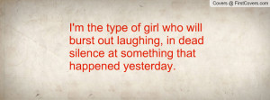 the type of girl who will burst out laughing , Pictures , in dead ...
