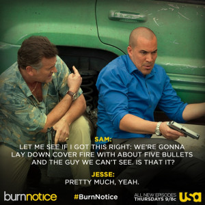 BurnNotice_USA: We're fired up for our 100th episode tomorrow--though ...