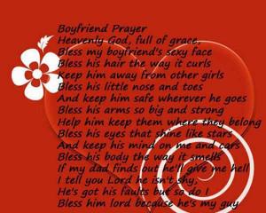Boyfriend Prayer Valentine Day Poem