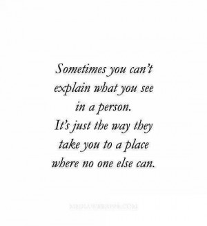 Sometimes you can't explain...