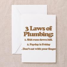 Laws of Plumbing Greeting Card for