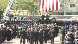 Firefighter funeral procession. Friday, June 10, 2011.