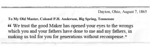 Shot at. Never paid. But I'm glad you're well': Slavery letter, 147 ...