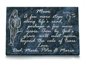 ... memorial colour black granite 18 x 12 16 x 10 our lady dove memorial