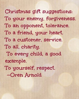 Christmas Advent Calendar Quote 'Christmas gift suggestions'