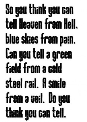 Pink Floyd - Wish You Were Here - song lyrics, song quotes, songs ...