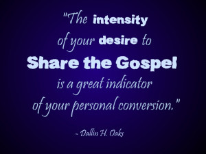 Desire to Share the Gospel Indicates Level of Conversion