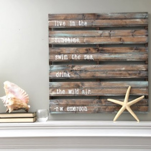 ... on Art with Sayings and Quotes . It's a wood pallet look-alike